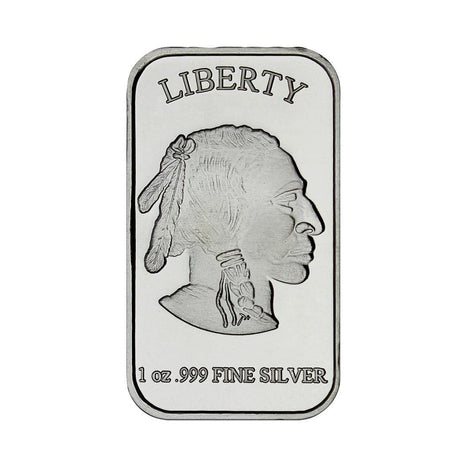 1 Ounce Silvertowne Mint .999 Silver Buffalo Bar