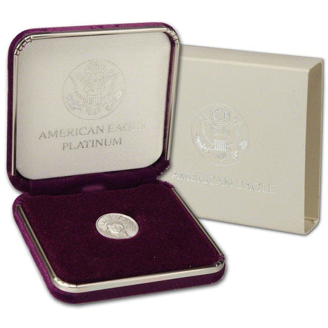 $10 .999 Platinum Eagle (1/10 Oz) with Genuine US Mint Gift Box .999 Mixed Date BU