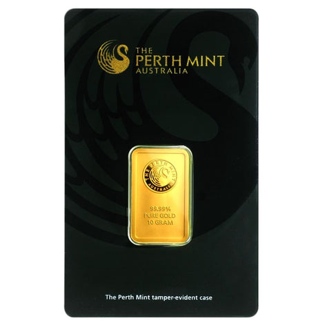 10 Gram .9999 Gold Bar - Perth Mint - In Assay Card