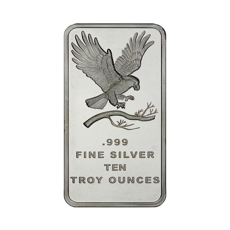 10 Ounce Silvertowne Mint .999 Silver Eagle Bar