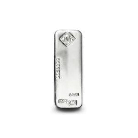 100 Ounce .999 Fine Silver Johnson Matthey Bar
