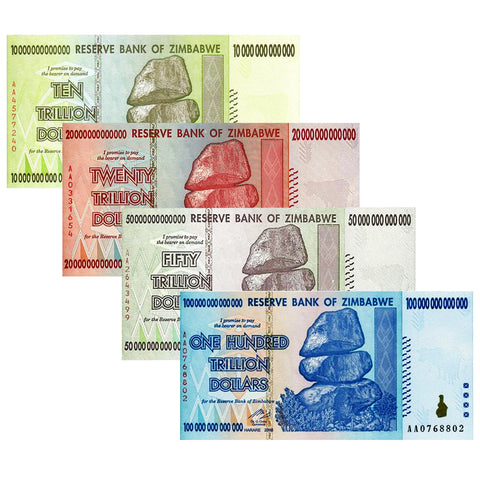 10 X 50 TRILLION ZIMBABWE CURRENCY 2008 AA SERIES NOTE UNCIRCULATED