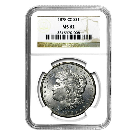 1878-CC Morgan Dollar MS62 NGC