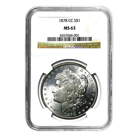 1878-CC Morgan Dollar MS63 NGC