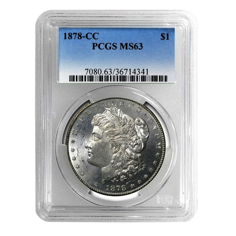 1878-CC Morgan Dollar MS63 PCGS