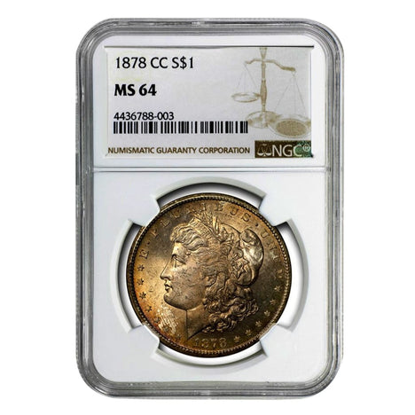 1878-CC Morgan Dollar MS64 NGC
