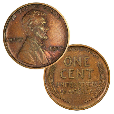 1909 VDB Lincoln Cent - Circulated Condition