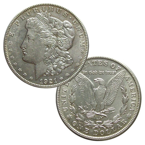 1921 90% Silver Morgan Dollar About Uncirculated