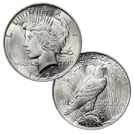1922-1935 - 90% Silver Peace Dollar Brilliant Uncirculated