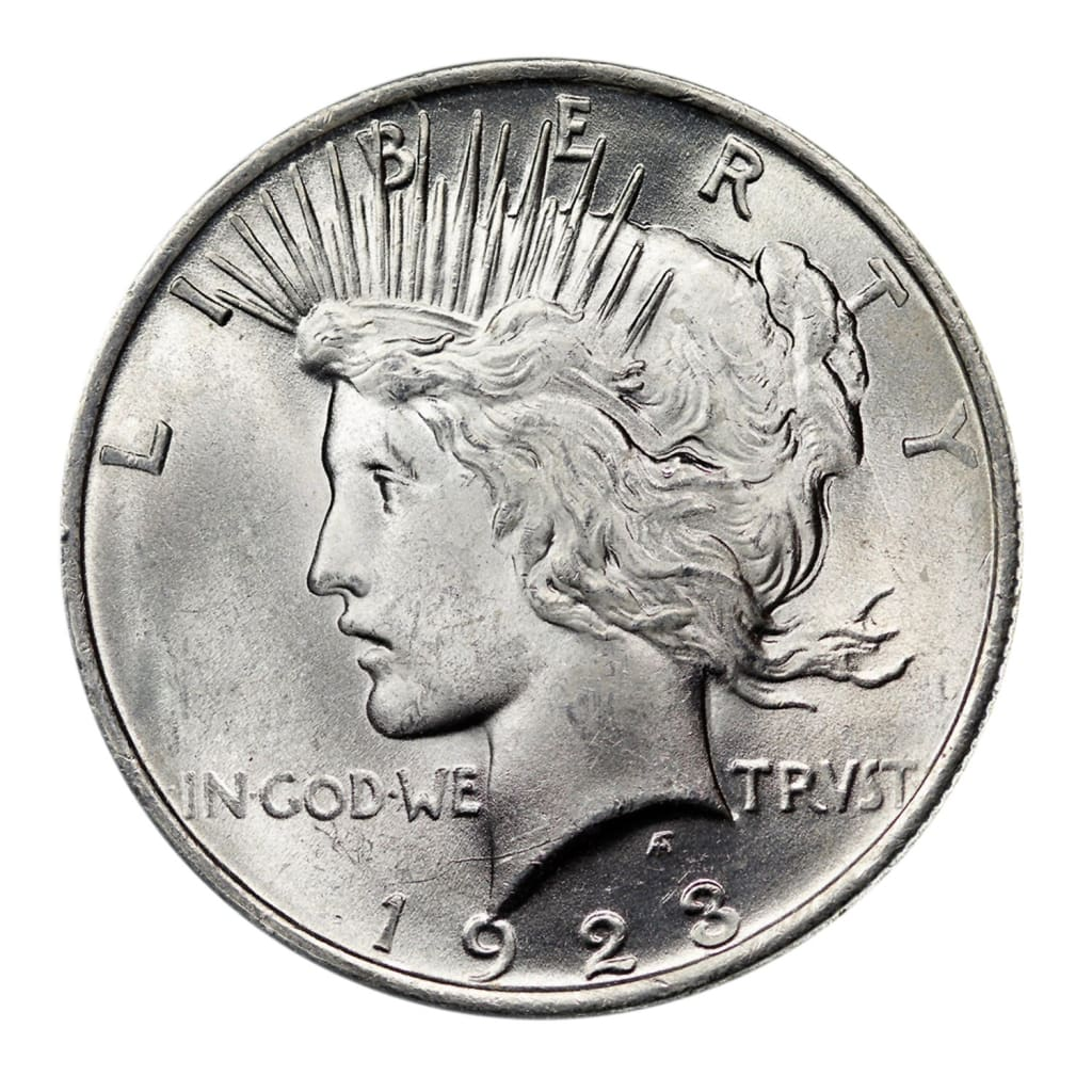 1922 1935 90 Silver Peace Dollar Brilliant Uncirculated