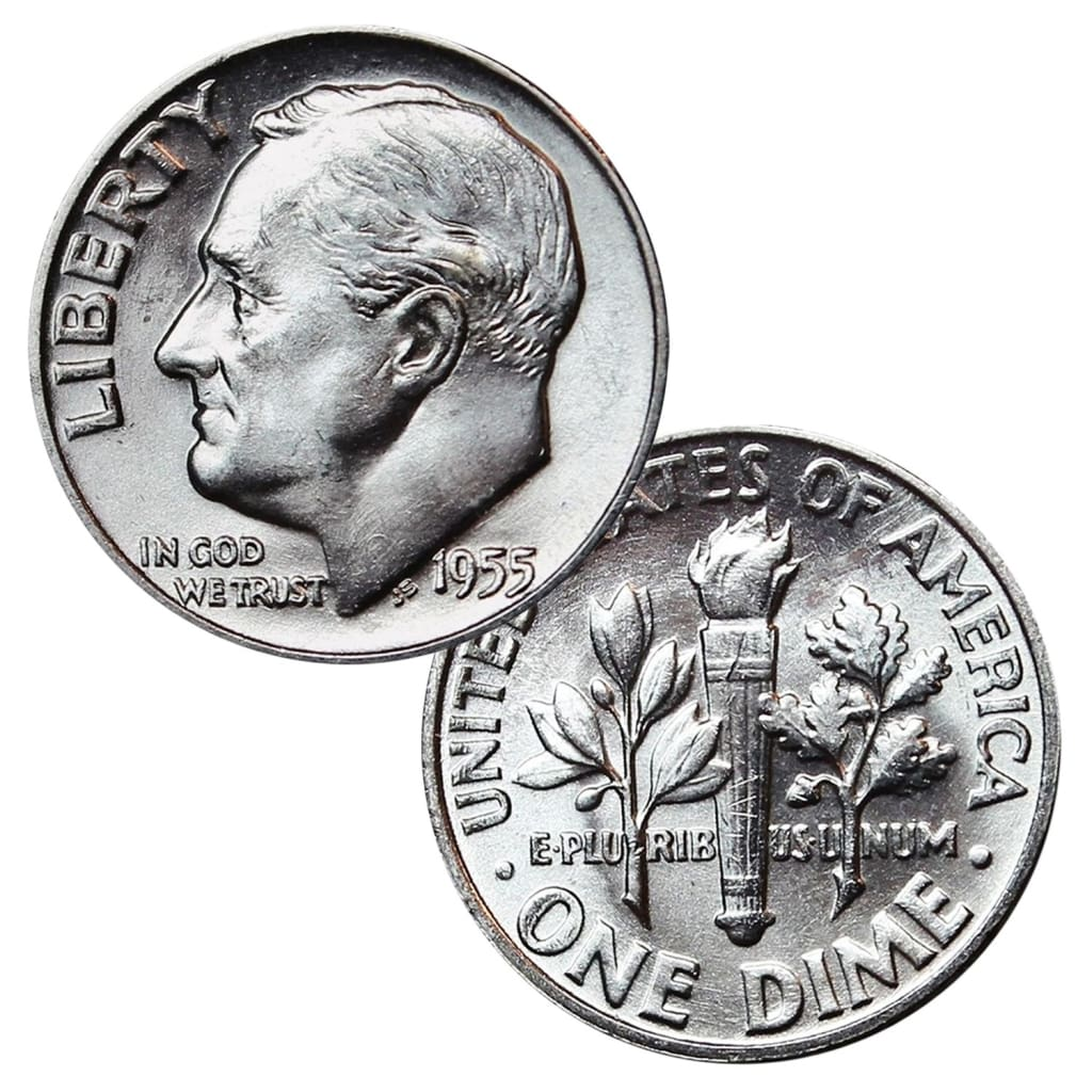 1946 1964 90 Silver Roosevelt Dimes Bu Mixed Dates