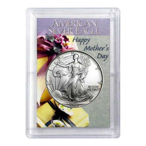 1992 $1 American Silver Eagle HE Harris Holder - Mothers Day Design