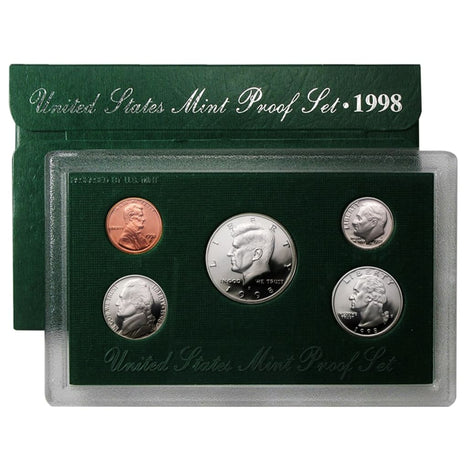 1998 Proof Set - 5 Coin Set