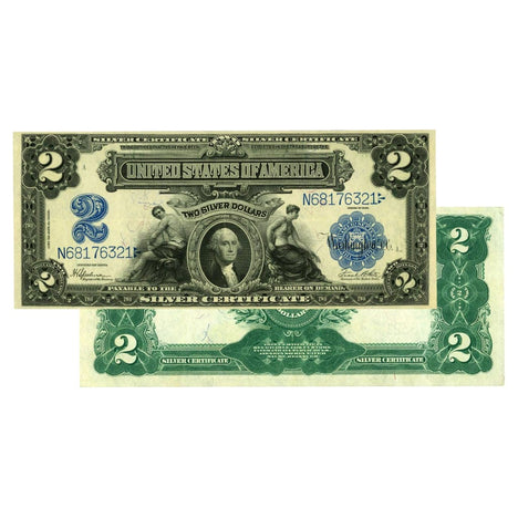 $2 - 1899 Large Size Silver Certificate - About Uncirculated