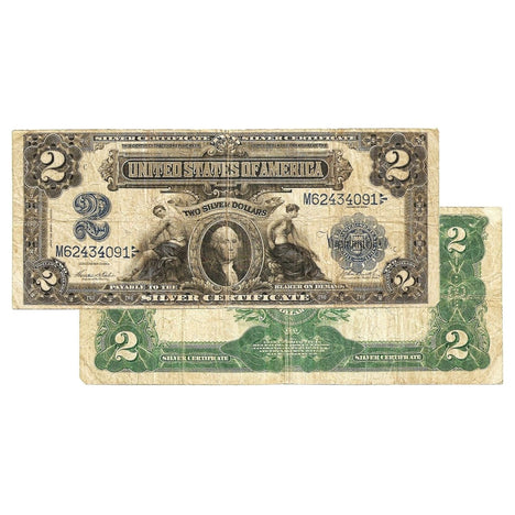 $2 - 1899 Large Size Silver Certificate - Fine