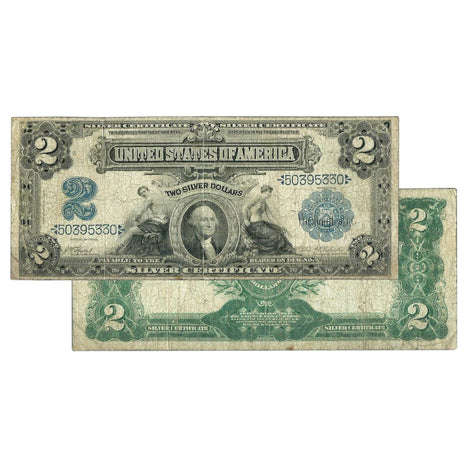$2 - 1899 Large Size Silver Certificate - Very Good