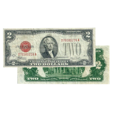 $2 - 1928 Red Seal FRN - Extra Fine