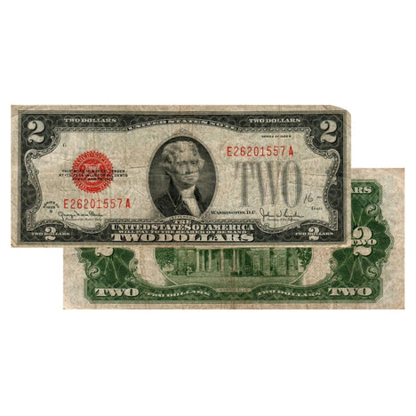 $2 - 1928 Red Seal FRN - Fine