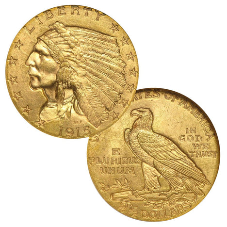$2.50 Indian Head Quarter Eagle (1908-1929)
