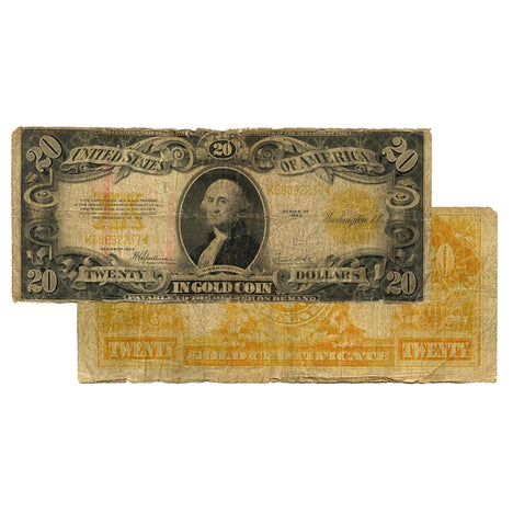 $20 - 1922 Gold Certificate Large Size Note - Cull
