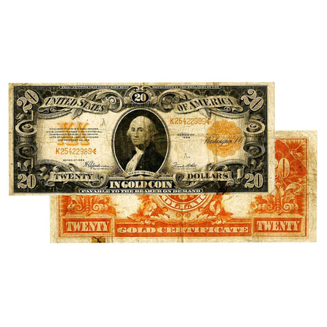 $20 - 1922 Gold Certificate Large Size Note - Fine