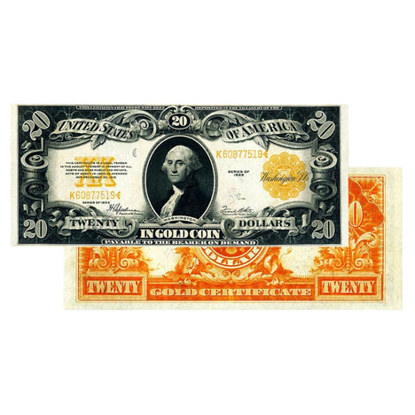 $20 - 1922 Gold Certificate Large Size Note - Uncirculated