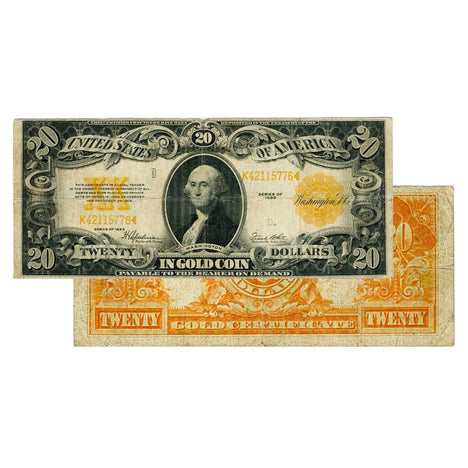 $20 - 1922 Gold Certificate Large Size Note - Very Fine