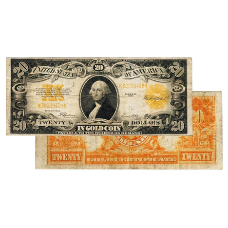 $20 - 1922 Gold Certificate Large Size Note - Very Good