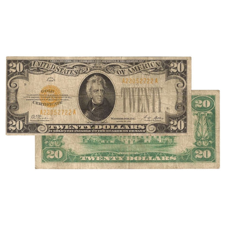 $20 - 1928 Gold Certificate - Very Fine