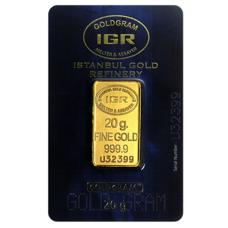 20 Gram .9999 Gold Bar - Istanbul Gold Refinery