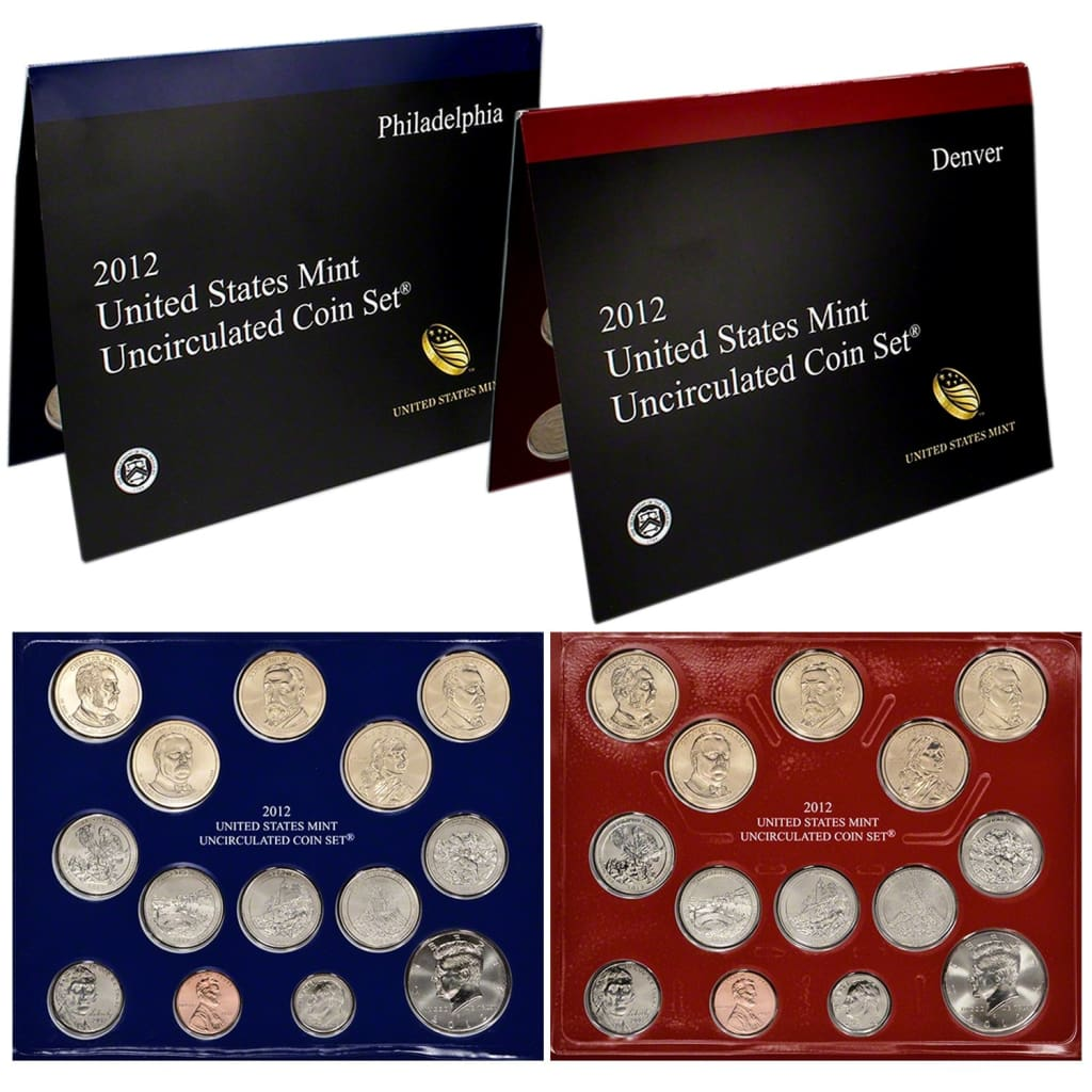 2012 United States Mint Uncirculated Coin Set Philadelphia and Denver