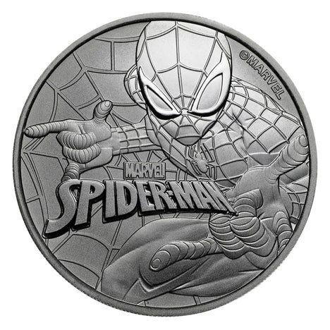 2017 $1 Tuvalu 1 oz .999 Silver Marvel Series Spiderman BU