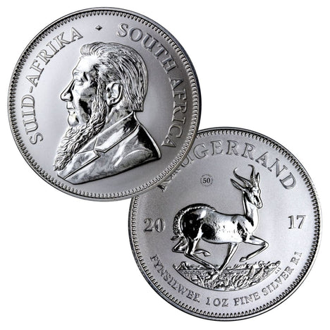 2017 South Africa Krugerrand 1 oz .999 Silver - 50th Anniversary