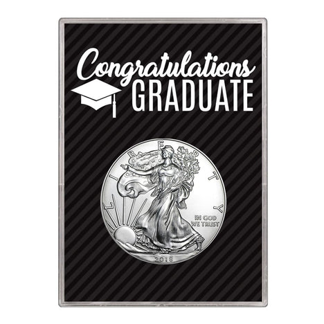 2018 $1 American Silver Eagle Gift Holder Graduation Design