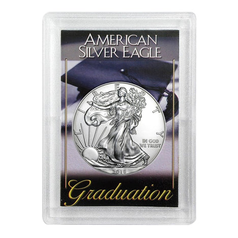 2018 $1 American Silver Eagle HE Harris Holder - Graduation Design