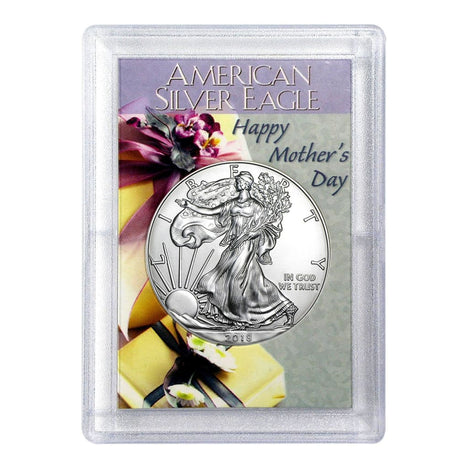 2018 $1 American Silver Eagle HE Harris Holder - Mothers Day Design