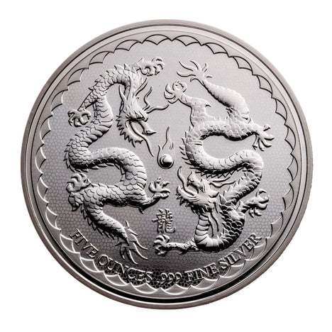 2018 1 Oz .999 Silver Niue Double Dragon $2