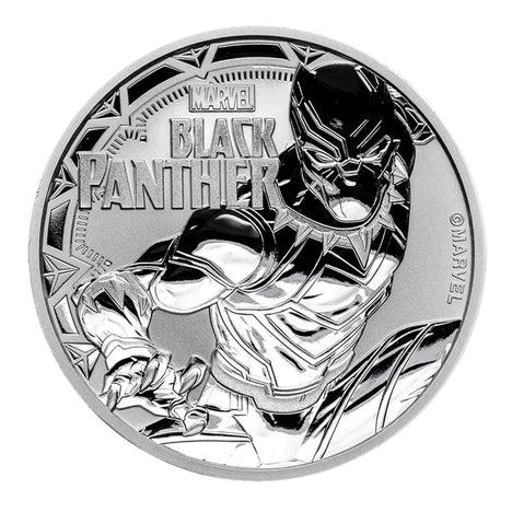 2018 $1 Tuvalu 1 oz .999 Silver Marvel Series Black Panther BU