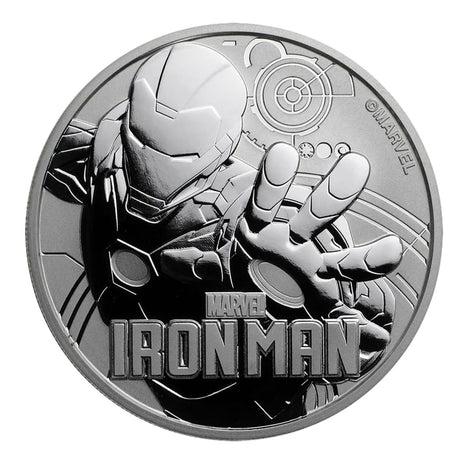2018 $1 Tuvalu 1 oz .999 Silver Marvel Series Iron Man BU