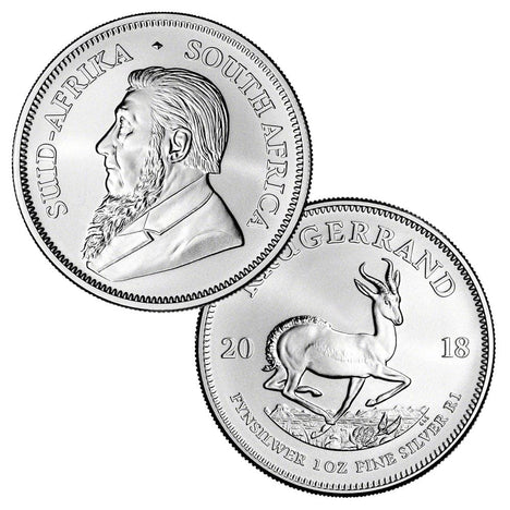 2018 South Africa .999 Silver Krugerrand 1 oz - 1 Rand