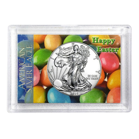 2019 $1 American Silver Eagle HE Harris Holder - Happy Easter Design