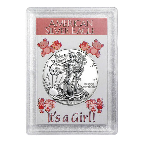 2019 $1 American Silver Eagle HE Harris Holder - Its A Girl! Design