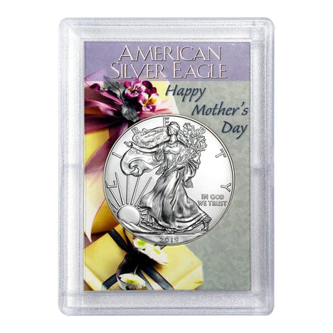 2019 $1 American Silver Eagle HE Harris Holder - Mothers Day Design