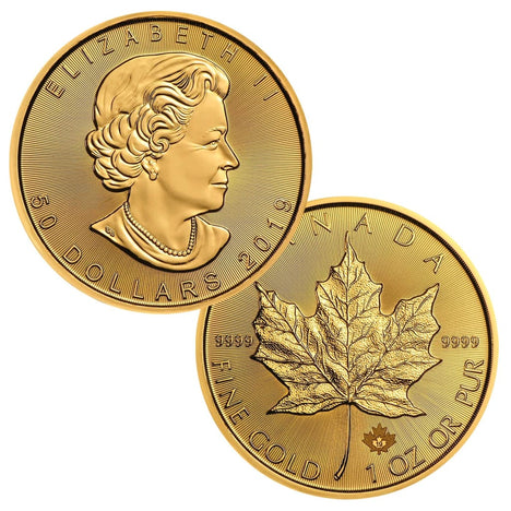 2019 $50 Canada 1oz Gold Maple Leaf Brilliant Uncirculated BU