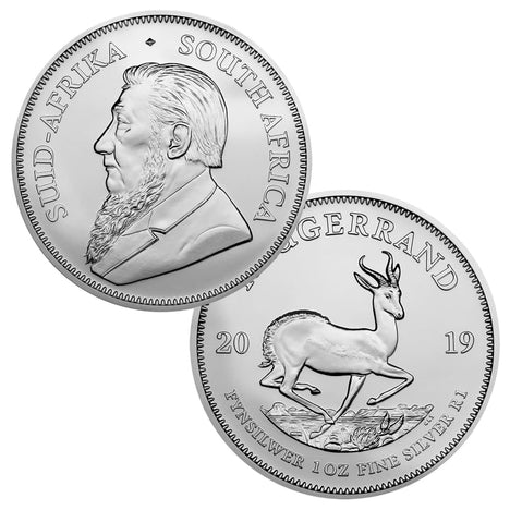 2019 South Africa .999 Silver Krugerrand 1 oz - 1 Rand