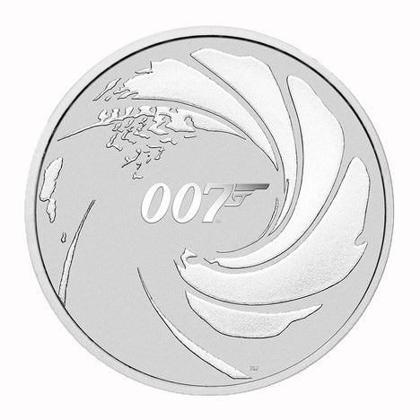 2020 Tuvalu $1 1 oz .9999 Silver 007 James Bond Brilliant Uncirculated
