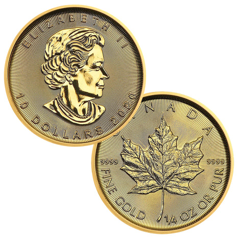 2020 $10 Canada 1/4 oz Gold Maple Leaf Brilliant Uncirculated BU
