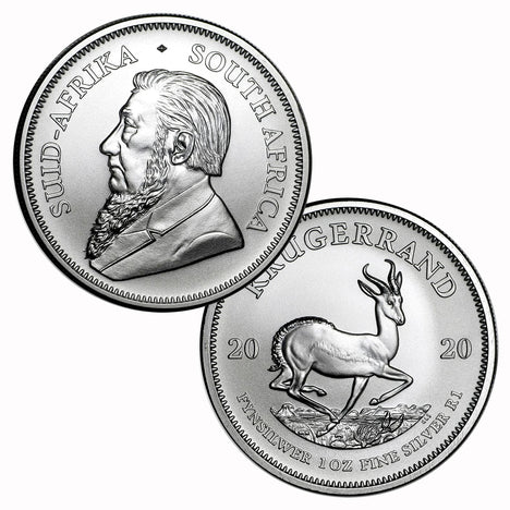 2020 South Africa .999 Silver Krugerrand 1 oz - 1 Rand