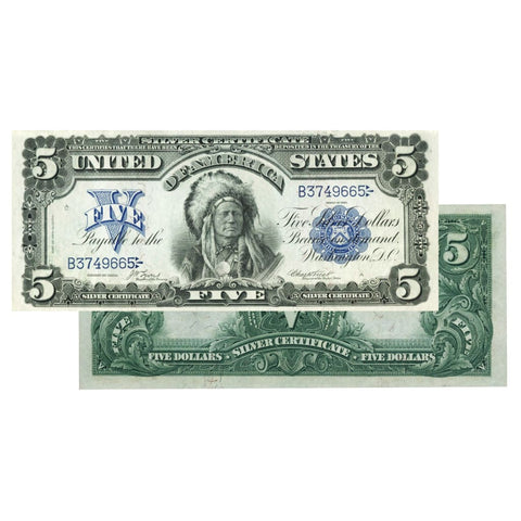 $5 - 1899 Indian Chief Large Silver Certificate - About ...