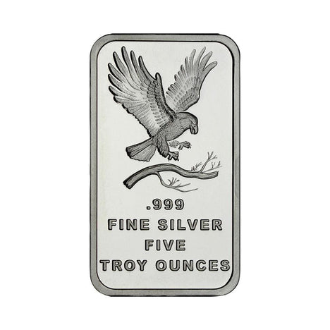 5 Ounce Silvertowne Mint .999 Silver Eagle Bar